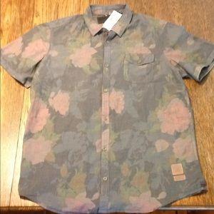 XL Buffalo David Britton floral shirt NWT